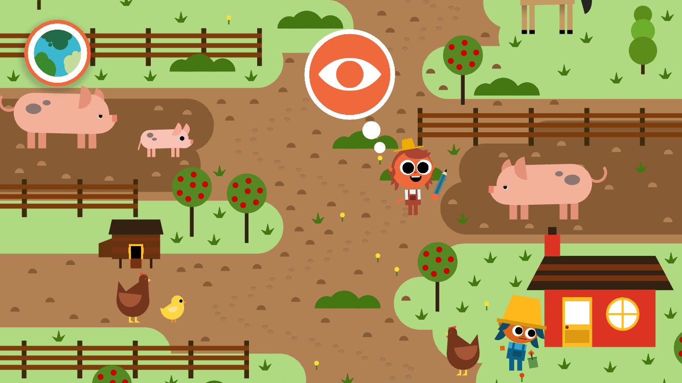 Artie's World Farm Friends Map
