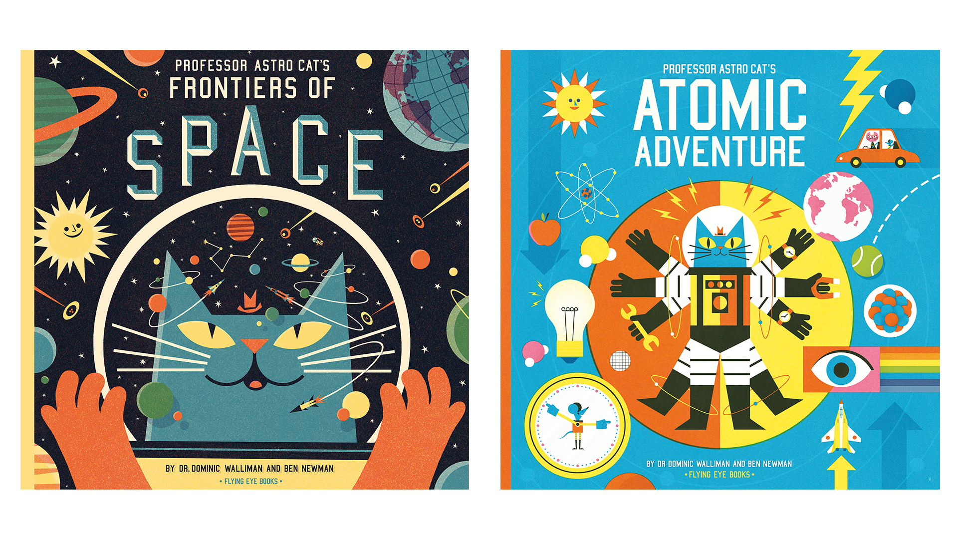 Professor Astro Cat books covers