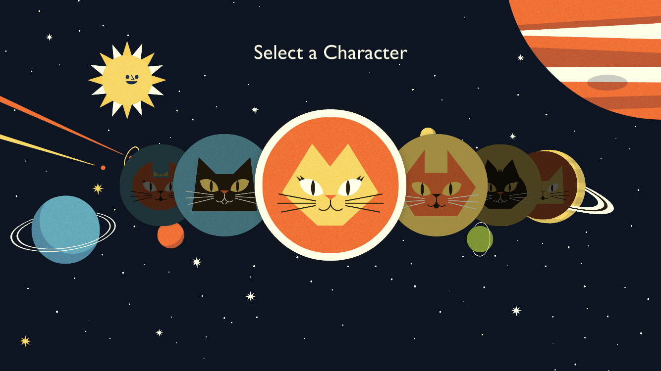 Selecting an Avatar in Astro Cat's Solar System for Astro Cat Lesson Plan