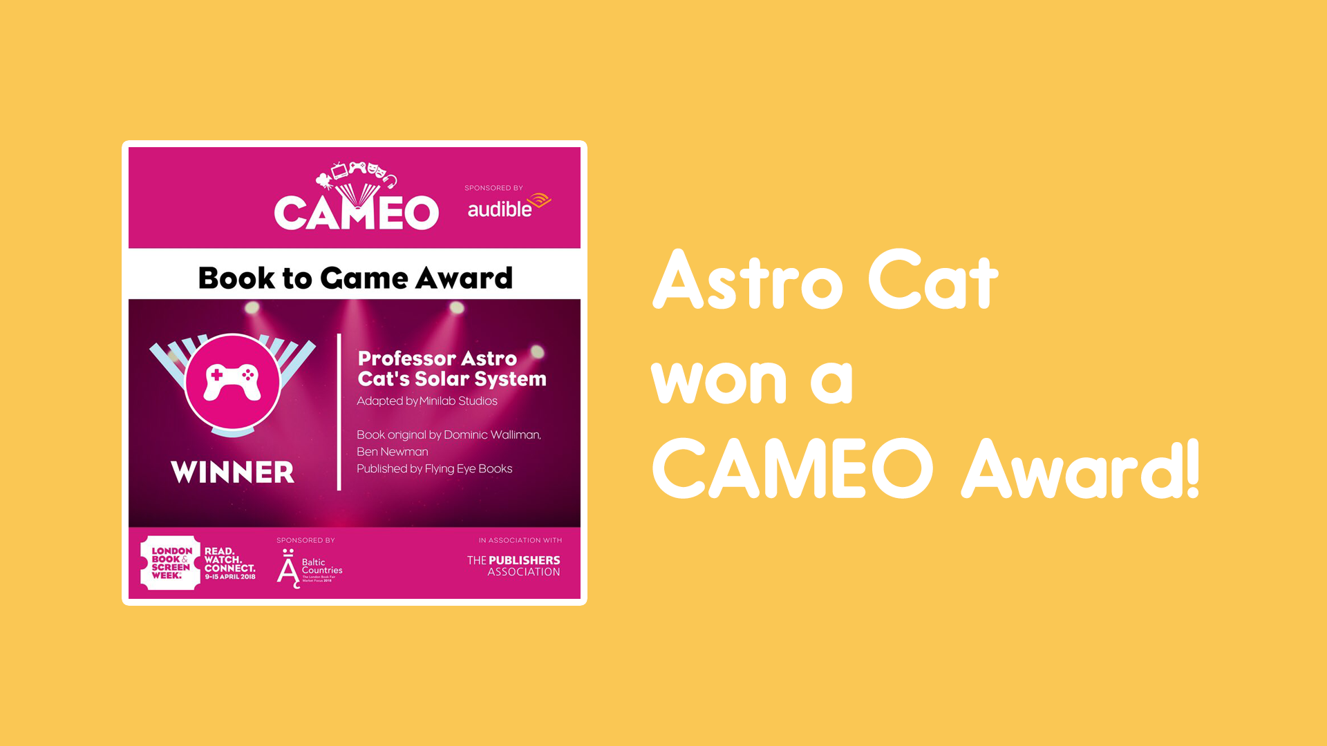 CAMEO award Astro Cat